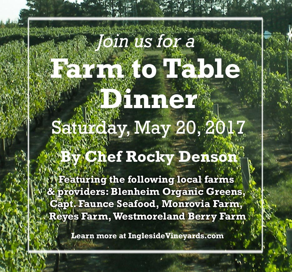 Farm to Table Dinner - May 2017