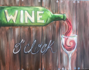 Wine O'Clock by the Uncorked Palette