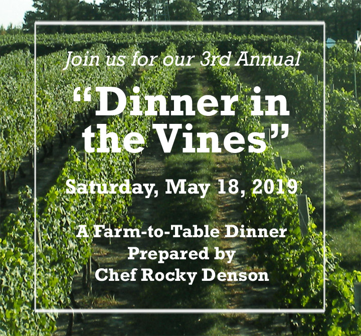 Dinner in the Vines 2019 flyer