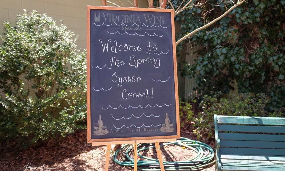 Welcome to the Spring Oyster Crawl - chalkboard