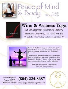 Wine & Wellness Yoga at Ingleside