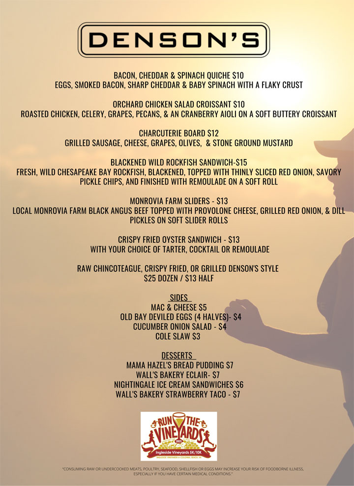 Run the Vineyards menu - 4-21